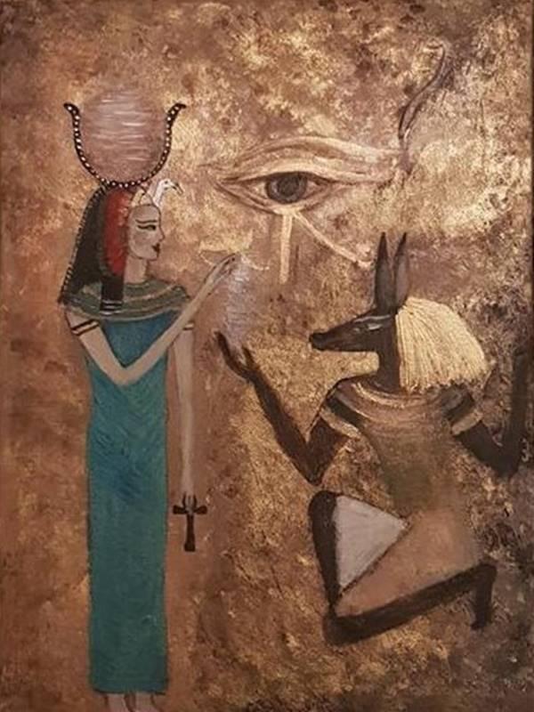 Iset and Anubis